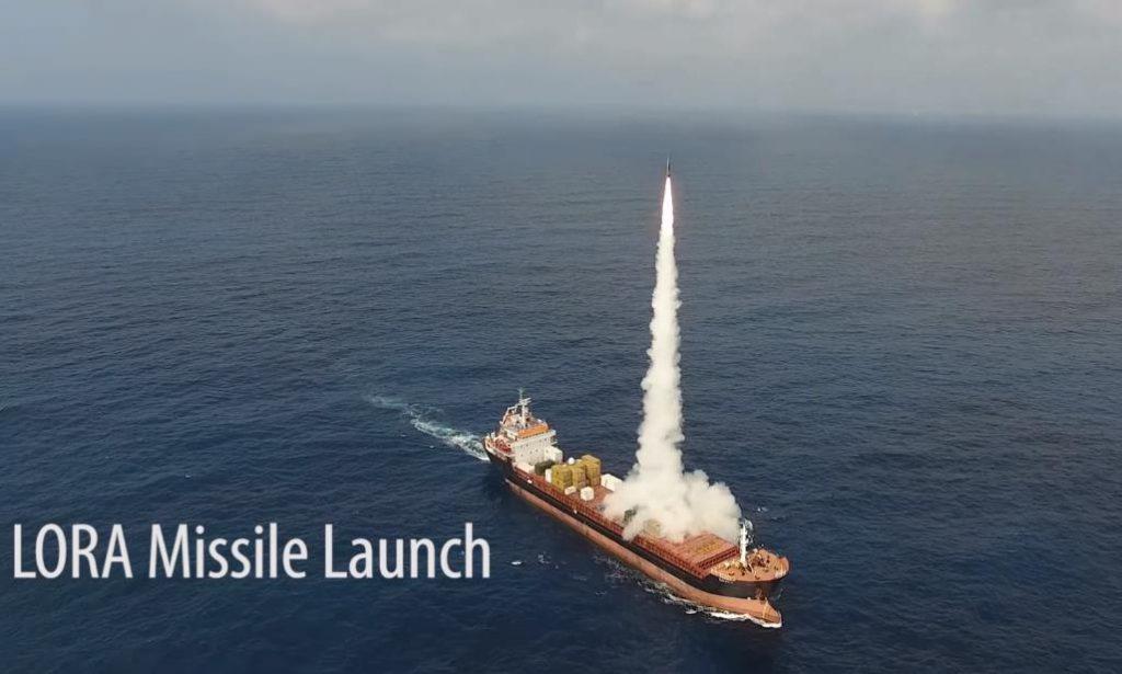 Ізраїль провів випробування пусків ракет комплексу LORA з вантажного корабля – відео