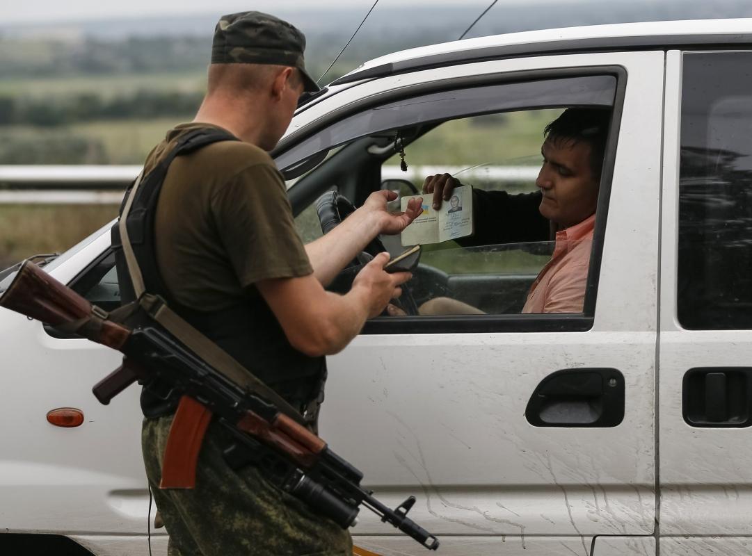 В зоні АТО бійці НГУ затримали підозрілих осіб