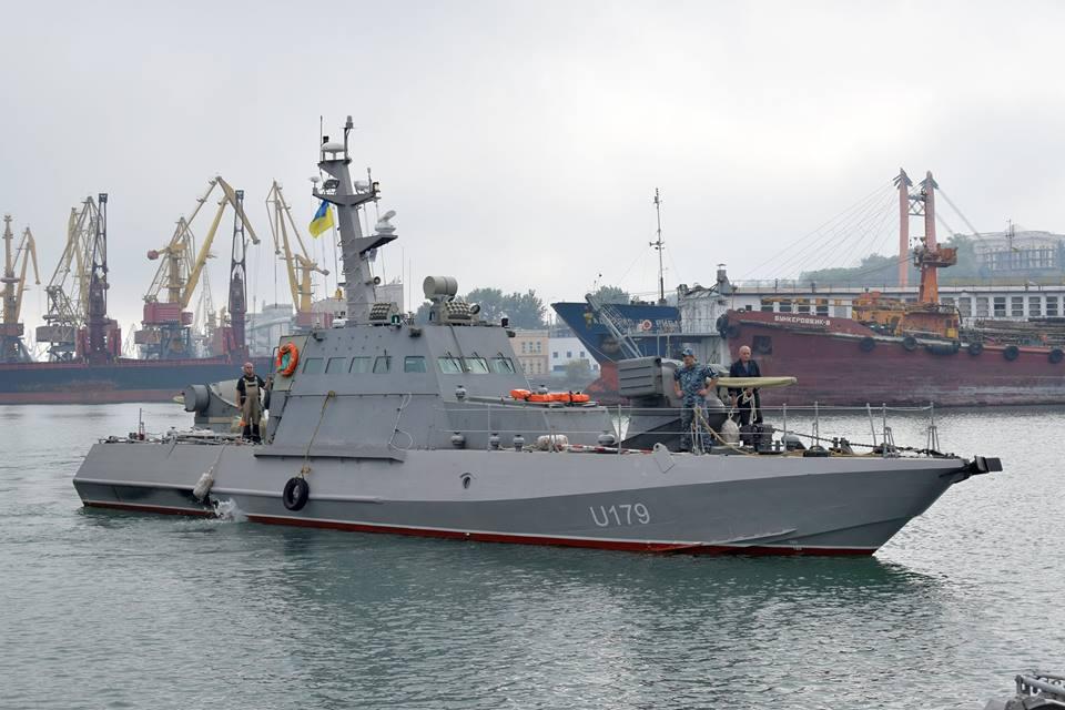 До Одеси прибули два малі броньовані катери спущені нещодавно на воду