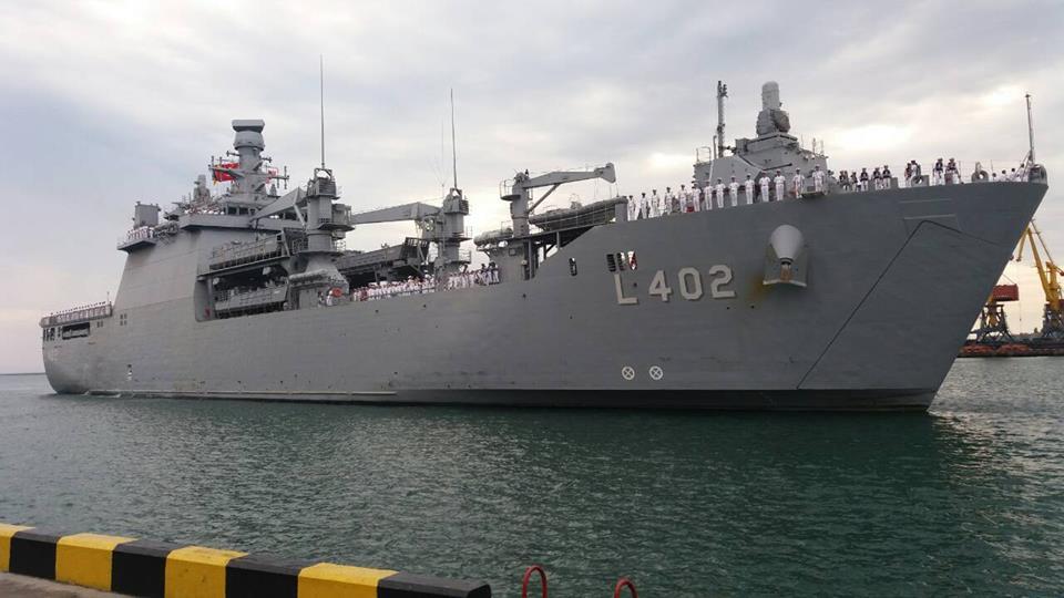 До порту Одеси з візитом в Україну прибув корабель ВМС Туреччини