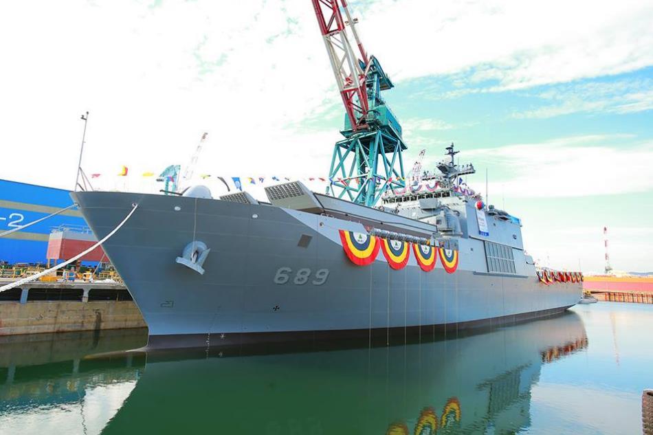 У Південній Кореї спустили на воду універсальний десантний корабель No Jeok Bong