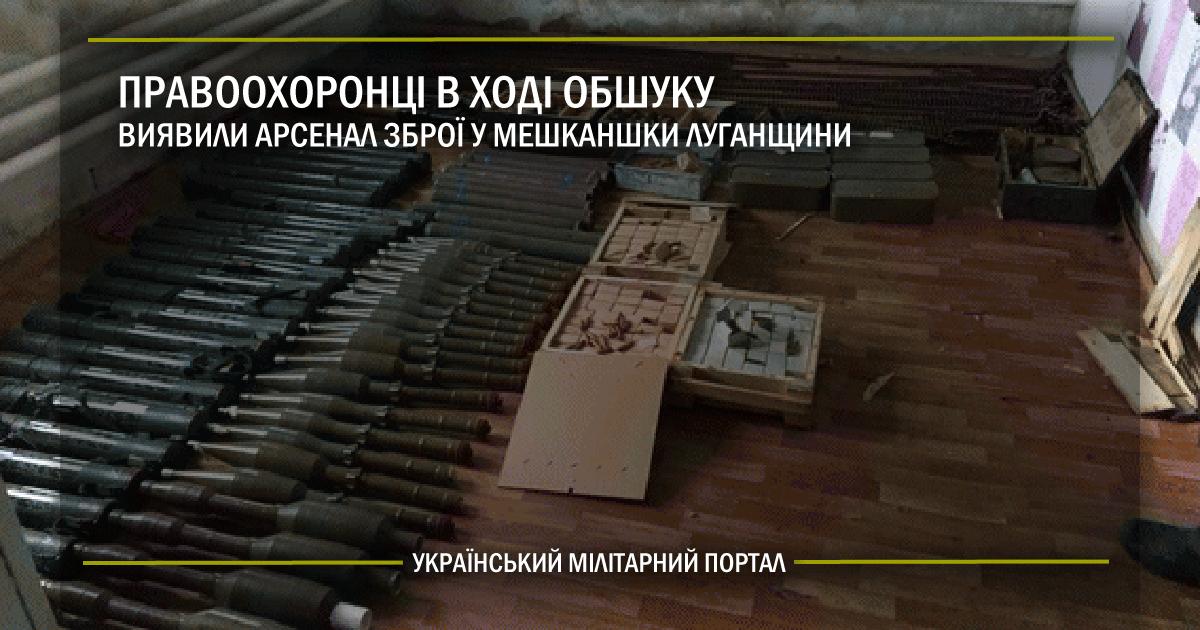Правоохоронці в ході обшуку виявили арсенал зброї у мешканки Луганщини