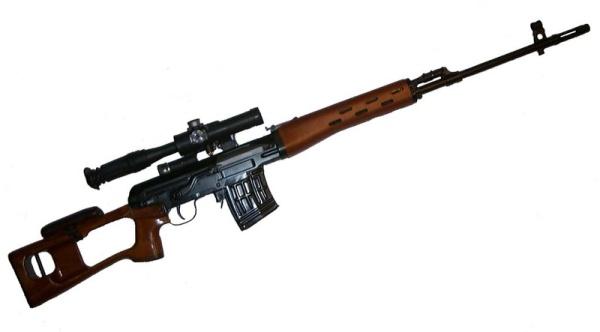 7,62 мм. снайперська гвинтівка Драгунова СВД