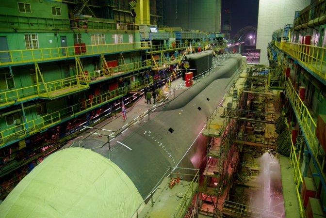 Sevmash shipyard, assembly ways shop