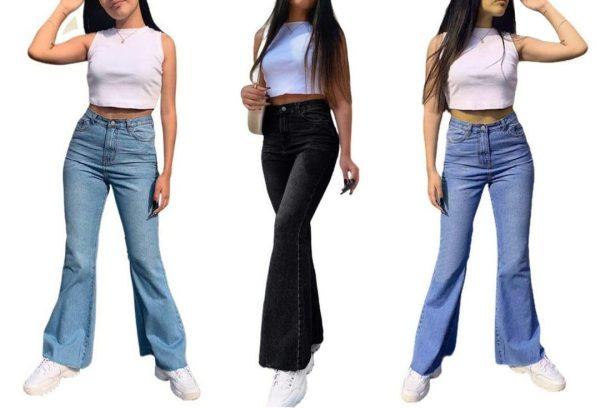 Flare jeans – tonalidadess sin rasgado