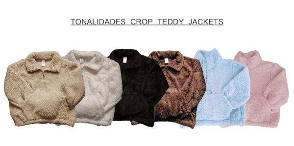 Tonalidades Crop Teddy Jackets