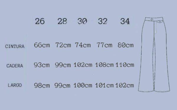 White wideleg sizes