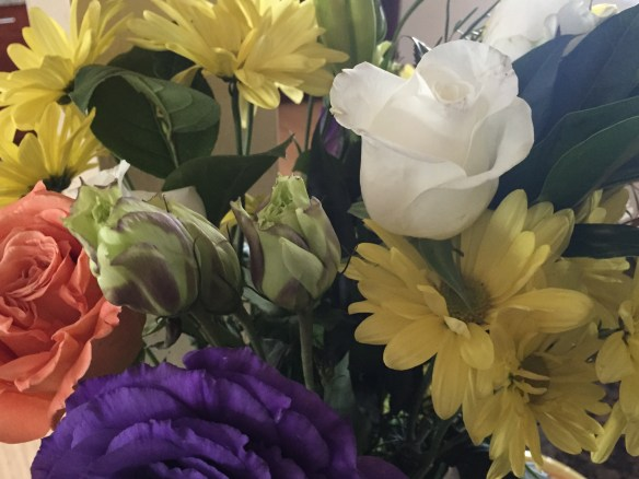 Tween picked out this bouquet in Easter celebration colors