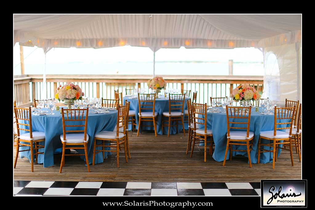 Ocean Key Resort Wedding Reception Setup