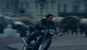 Tom Cruise on Bike