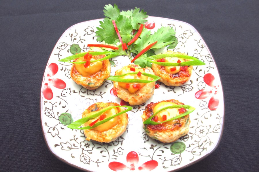 Thai Chicken & Peanut Mini Burgers