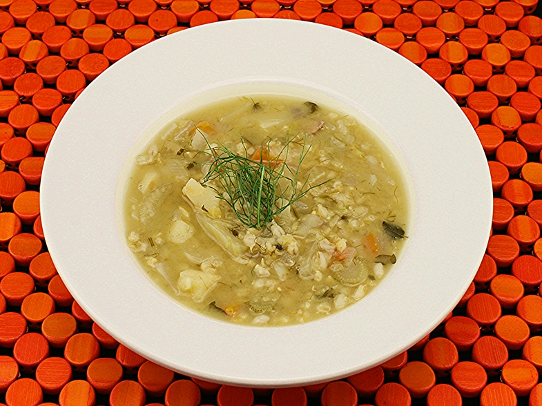 Country Style Fennel & Pearl Barley Soup