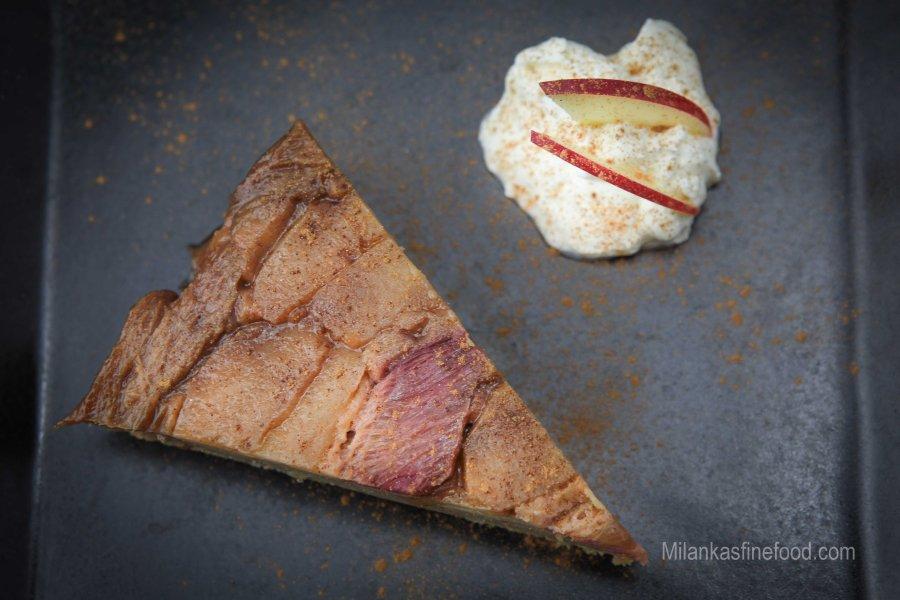 Upside-Down Apple & Rhubarb Cake