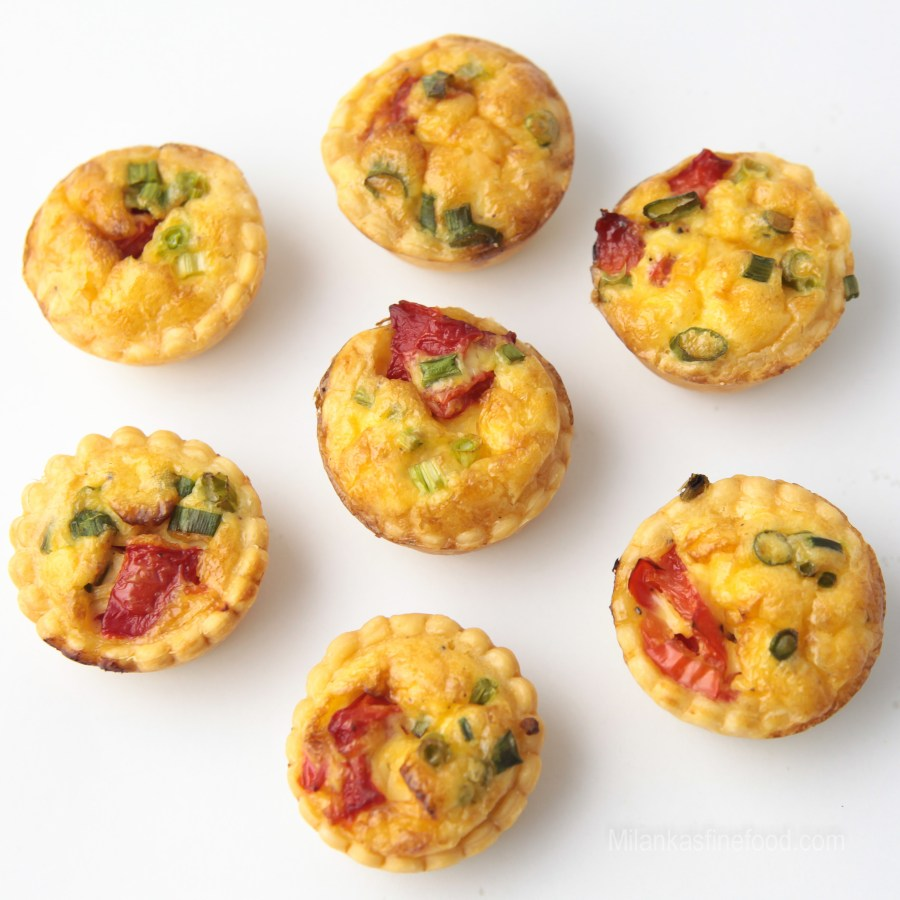Mini Goat Cheese & Roast Pepper Quiches