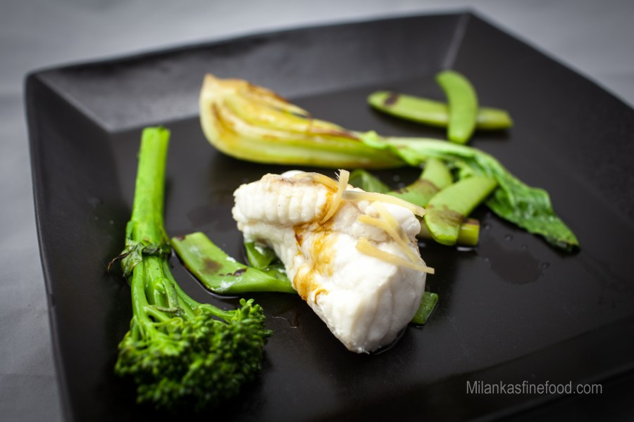 Steamed Fish with Asian Greens