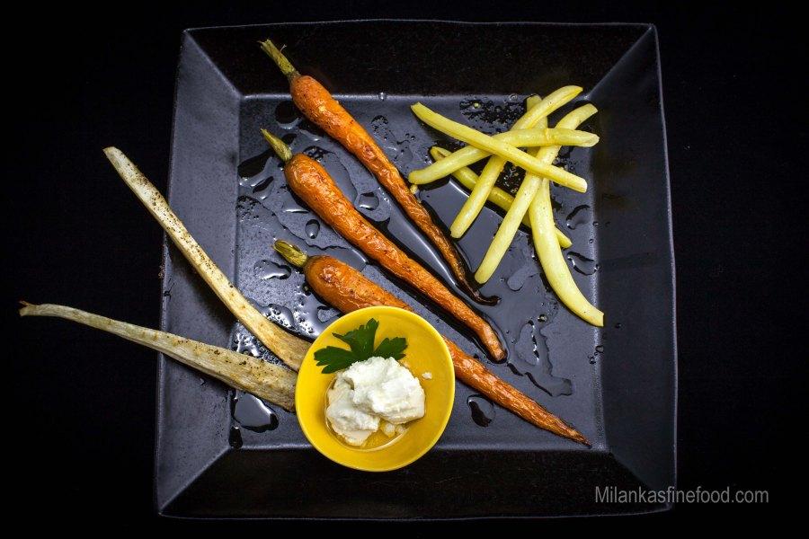 Roasted Carrots, Parsnip & Butter Beans (Cumin Dressing)