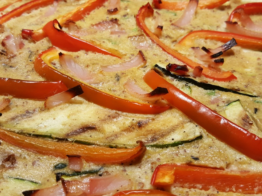 Smoky Bacon, Pepper & Courgette Clafoutis