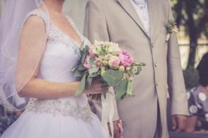 Svadba v Bratislave v Au Cafe, obrad, svadobna kytica