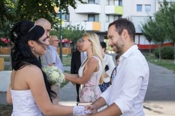 Svadba, Bratislava, Cik Cak centrum, gratulacie