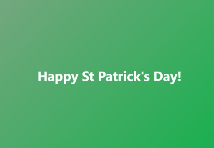 HAPPY ST. PATRICK'S DAY (Party On Peeps - Happy Weekend)   MILANO411