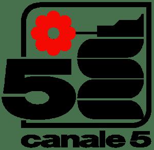 Il biscione sul vecchio logo di canale 5