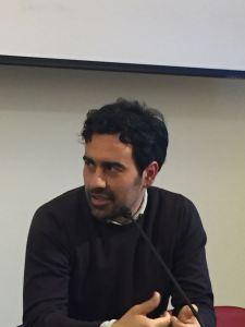 Stefano Crupi ieri sera alla presentazione del libro a Milano