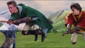 Harry Potter sfida l mitico Quidditch un alunno del suo college