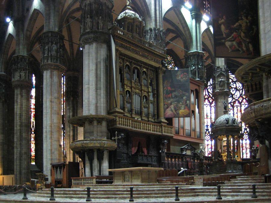 Duomo di Milano - corpi di sinistra dell'organo