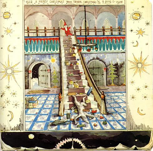 I pasticci dell'Oroso Polare amico di Babbo Natale nei bei disegni di Tolkien