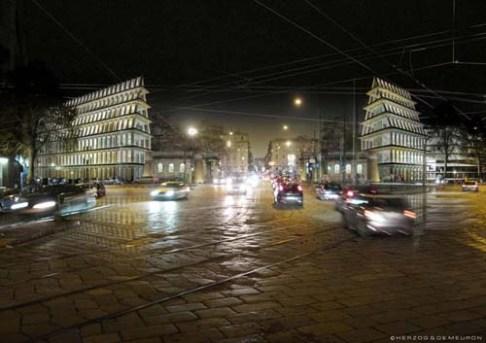 Un rendering che mostra come doveva presentarsi il progetto Feltrinelli, alla sua conclusione.
