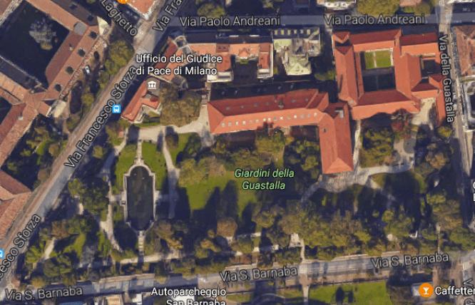 Vista dell'area dall'alto come è stata trasformata dal Comune di Milano
