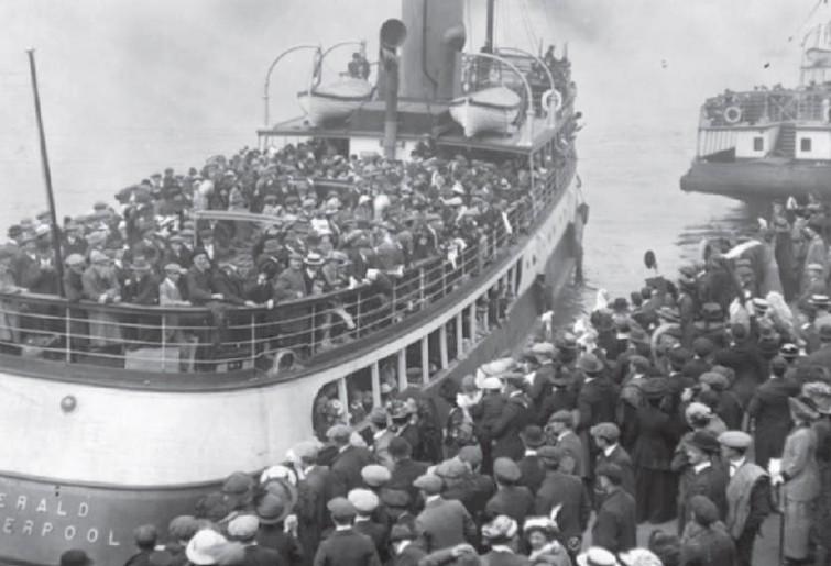 Una delle tante navi di chi sfuggiva alle persecuzioni.