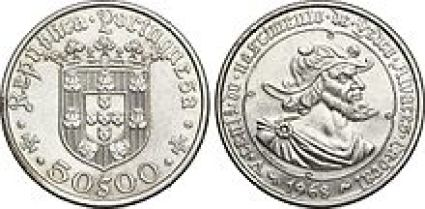 L'effige di Cabral ricordato su una moneta portghese, prima dell'introduzione dell'Euro