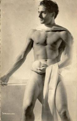 danza, collezione Atelier Spadolini - Riccione - Alberto Spadolini ritratto da Dora Maar, danzatore nudo con globo,Parigi 1935
