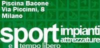 Piscina Bacone Via Piccinni 8 Milano  impianti sportivi piscine nuoto  milano pratica