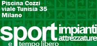 Piscina Cozzi viale Tunisia 35 Milano  impianti sportivi piscine corsi di nuoto  milano pratica