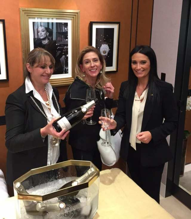 Melanie Payge and Store Manager Erminia Curti