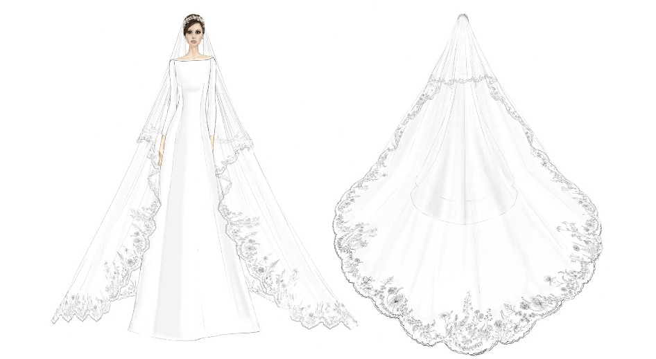 Givenchy Release Early Sketches of Meghan Markle's Wedding