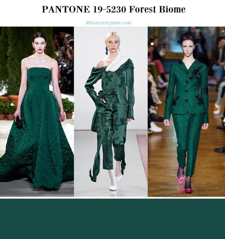 PANTONE 19-5230 Forest Biome fall winter 2019 2020