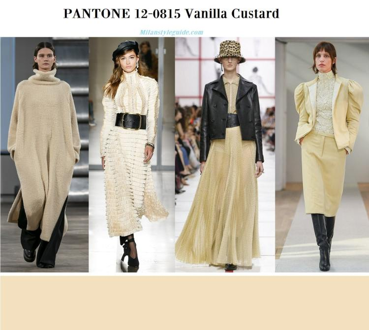 Pantone 12-0815 Vanilla Custard fall winter 2019 2020