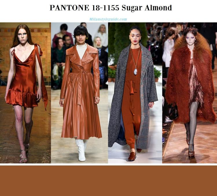 Pantone 18-1155 Sugar Almond fall winter 2019 2020