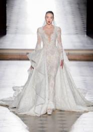 Свадебное платье с двойной юбкой рыбка Tony Ward Haute Couture осень-зима 2017/18