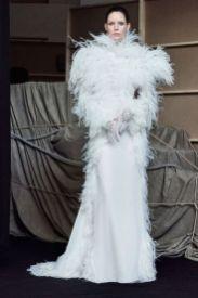 Свадебное платье с перьями Francesco Scognamiglio Haute Couture осень-зима 2017/18