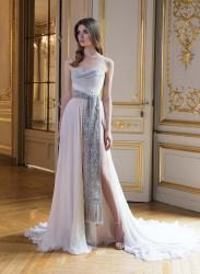 Париж высокая мода оригинальное свадебное платье не пышное