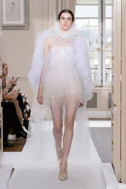короткое Свадебное платье Schiaparelli Haute Couture осень-зима 2017/18