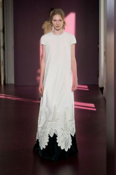 оригинальное черно-белое Свадебное платье Valentino Милан Haute Couture осень-зима 2018