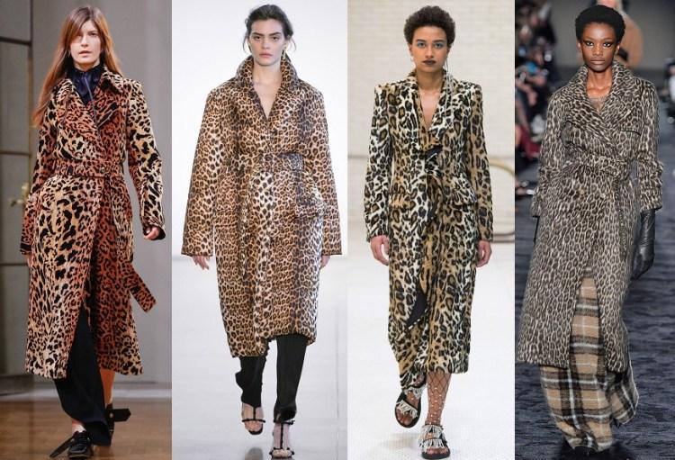 самые модные пальто осень 2018 леопардовое пальто
