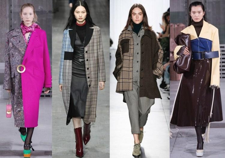 модные пальто осень зима 2018 2019 тренд - пальто из двух