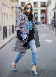 модное пальто стрит стайл 2018