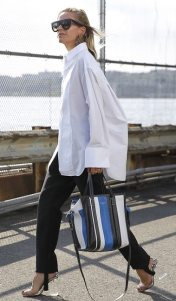 образы широкие брюки белая рубашка